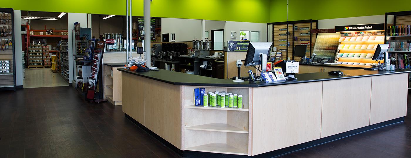 Cloverdale Paint Store Remodel